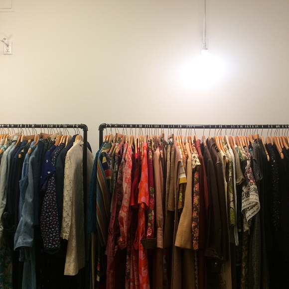 Vintage clothes shopping